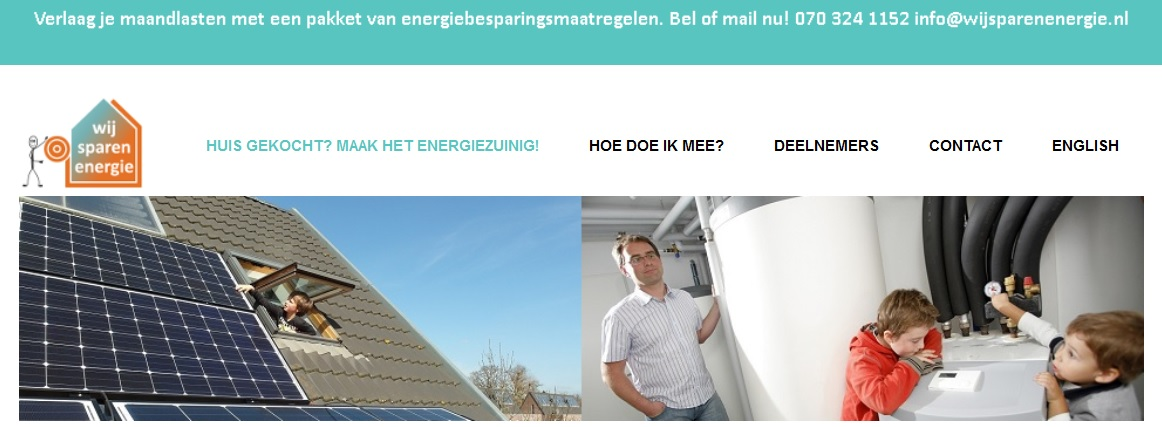 Website wij sparen energie